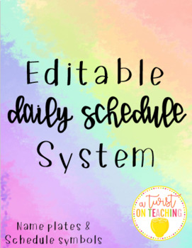 Daily Schedule Cards and Mini Toolbox Labels
