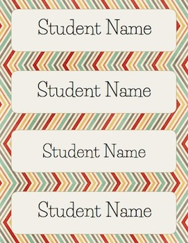 Daily Schedule Cards and Name Plates - Editable