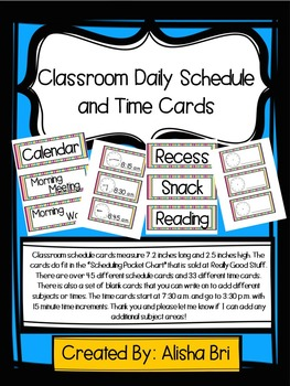Daily Schedule Cards and Time Cards
