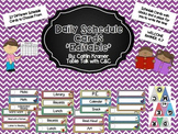 Daily Schedule Cards and Welcome Banner (Editable)