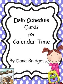 Daily Schedule Cards for Calendar Time