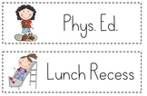Daily Schedule Cards for Classroom