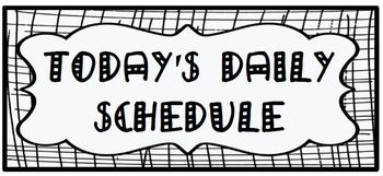 Daily Schedule Cards for Elementary Grades