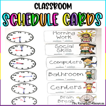 Daily Schedule Cards for Special Education (Editable!)