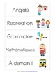 Daily Schedule Cards in French - Horaire