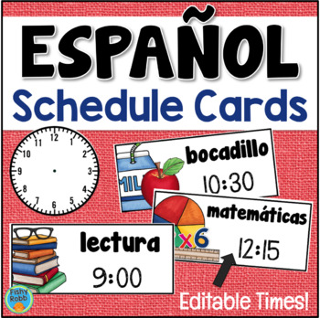 Daily Schedule Cards in SPANISH