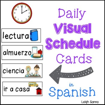 Daily Visual Class Schedule in Spanish