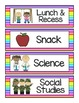 EDITABLE Daily Schedule Cards {neon stripes!}