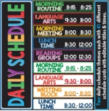 Daily Schedule Cards Editable Names & Times