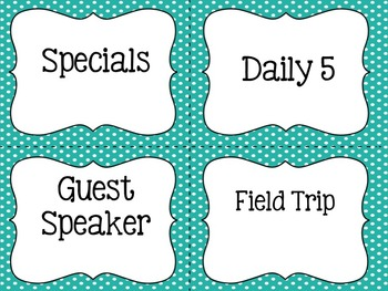 Daily Schedule Cards {whimsical & 3 styles}