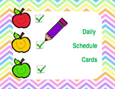 Daily Schedule Cards with Blank Clocks