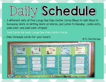 Classroom Organization Schedule Posters