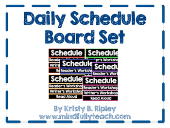 Daily Schedule Cards with Colorful Borders