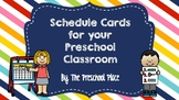 Daily Schedule Cards with Pictures- Preschool, Kindergarte