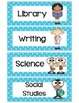 Daily Schedule Cards with Polka Dots