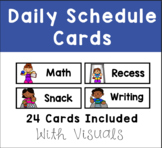 Daily Schedule Cards with Visuals