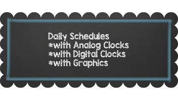 Daily Schedule {3 Sets} ~~ Chalkboard and Blue ~~ Editable
