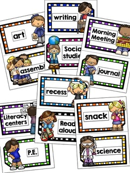 Daily Schedule Chart Cards