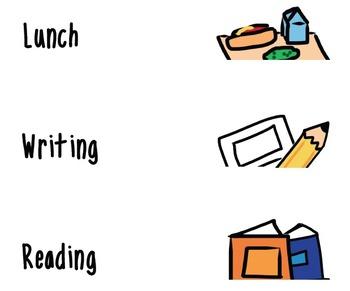 Daily Schedule Classroom Clip Art