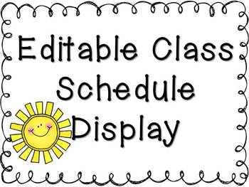 Daily Schedule Classroom Display