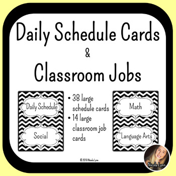 Daily Schedule & Classroom Job Cards