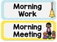 Daily Schedule Clip Chart: Sunny Days Classroom Decor