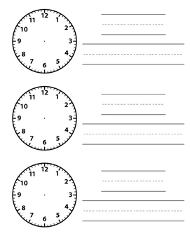 Daily Schedule Clock Cards