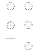 Daily Schedule Clocks