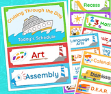 Daily Schedule Cruise-Themed, Nautical Ocean Bulletin Board Elements