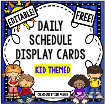 Daily Schedule Display Cards- Kid Theme