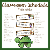 Daily Schedule (Editable) - Jungle Theme