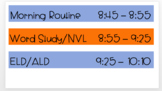 Daily Schedule Editable PPT