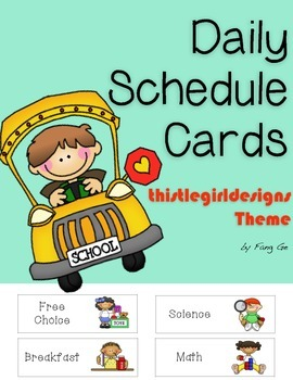 Daily Schedule Cards (English)