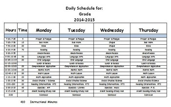 Daily Schedule Editable, Fillable and Printable