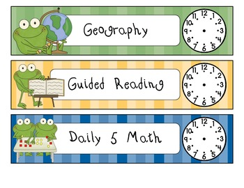 Daily Schedule- Frog Themed