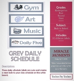 Daily Schedule - Grey
