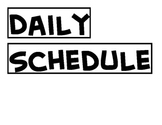 Daily Schedule Headers