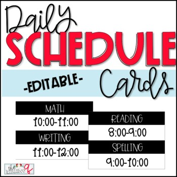 Daily Schedule Headings (Editable)