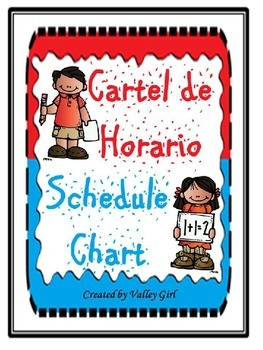 Daily Schedule: Horario Diario for the Intermediate dual classroom
