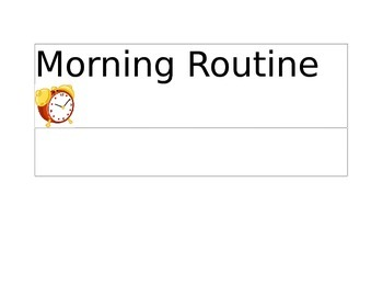 Daily Schedule Icons