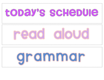 Daily Schedule Labels