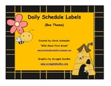 Daily Schedule Labels (Bee Theme)