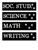 Daily Schedule Labels - Black & Stars
