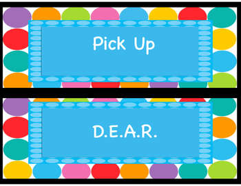 Classroom Labels/Hall Passes