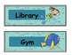 Daily Schedule Labels (Ocean Theme)