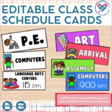 Daily Schedule Cards EDITABLE for Visual Schedules