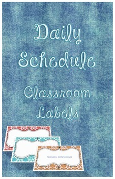 Daily Schedule - Labels and Tags!