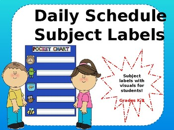 Daily Schedule Labels for Flow of the Day (Editable)