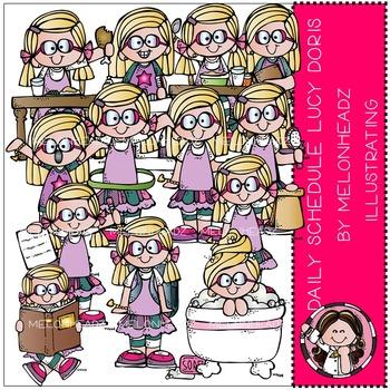 Daily Schedule clip art - Lucy Doris- by Melonheadz