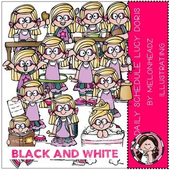 Melonheadz: Daily Schedule - Lucy Doris - BLACK AND WHITE